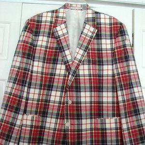 men's Chaps jacket 46R multi color plaid